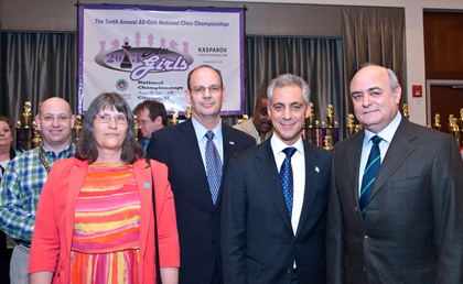 Mayor Rahm Emanuel Opens All-Girls Nationals